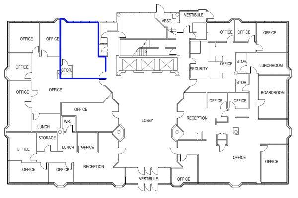 1st Floor (Suite 104) Full Floor Layout