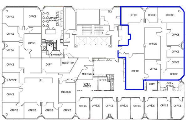 4th Floor (3516 sqft) Full Floor - Unit Highlighted