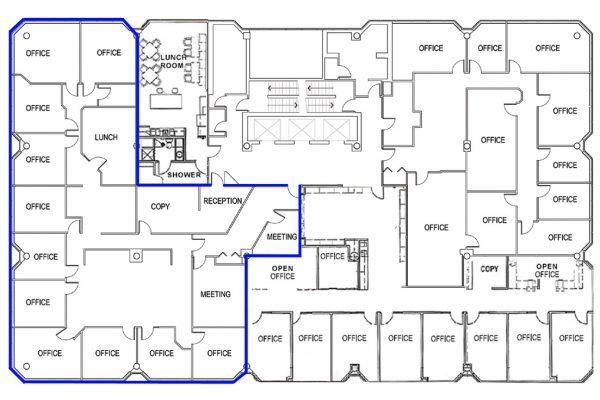 4th Floor (5106 sqft) Full Floor - Unit Highlighted