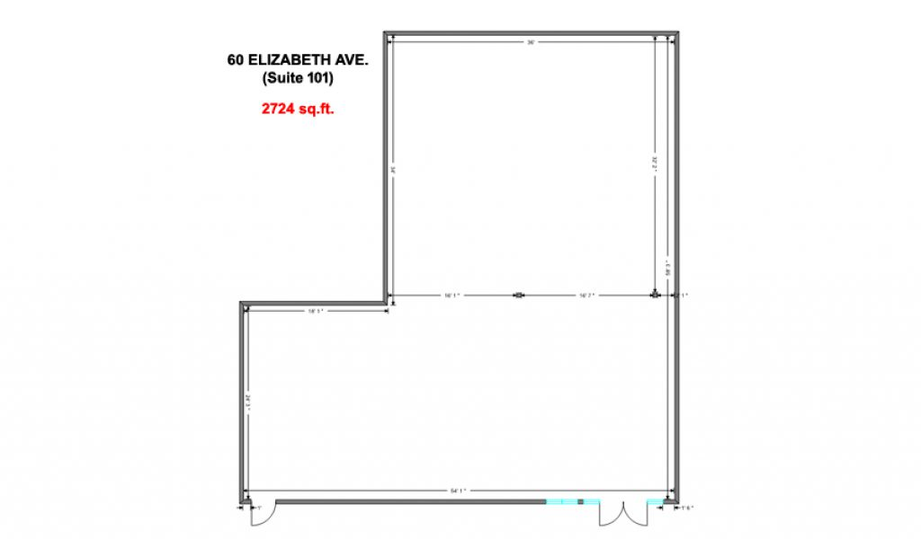 60 Eliz - Unit 101 Layout