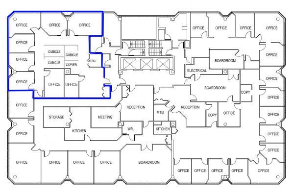 8th Floor (2493 sqft) Full Floor - Unit Highlighted